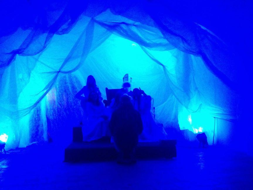 Mikuláš s anděly v muzejním Nebi
