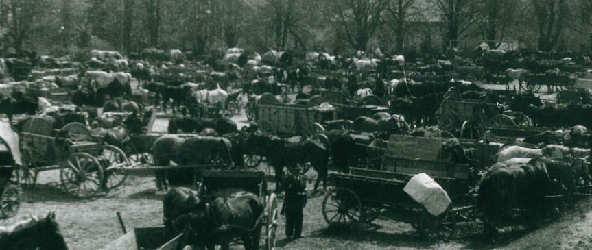 6. květen 1945 – dřevěné zátarasy a německý pancéřový vlak