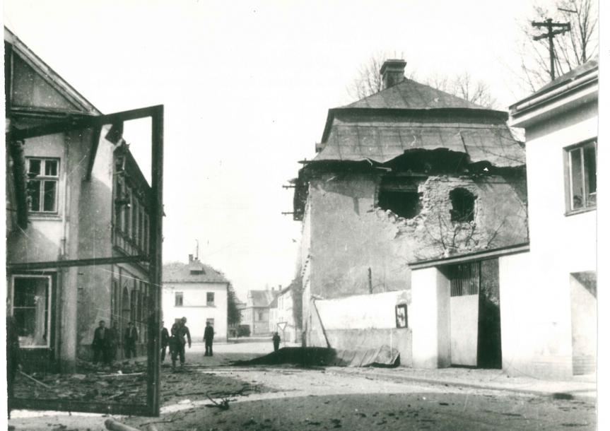 9. květen 1945 – bojové operace a bombardování města